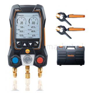 Elektroniczna oprawa zaworowa Testo 550s z bezprzewodowymi sondami do pomiaru temperatury 115i