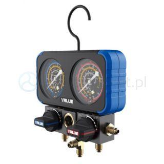 Zestaw podwójnych manometrów analogowych VRM2-B-0501