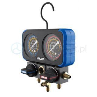 Zestaw podwójnych manometrów analogowych VRM2-B-0801